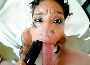 Honey's Slobbery Throat Fuck & Rim Job