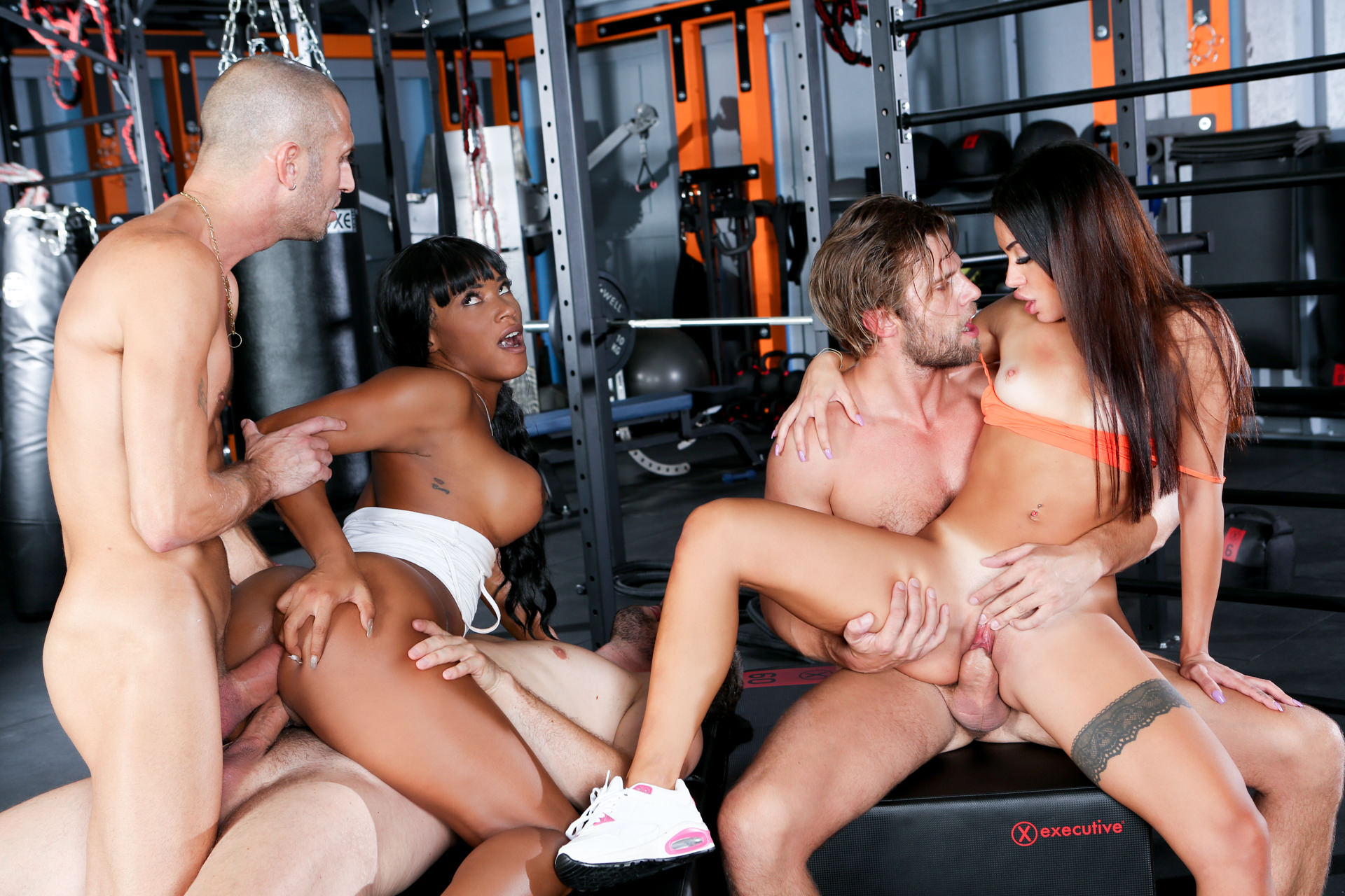 Download EvilAngel.com - Rocco's Fitness Sluts: DP Edition, Scene 02