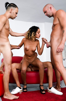 Teen Scarlet, MILF Karyn, 4 Huge Cocks